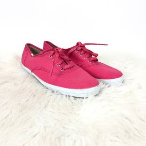 🌺Keds Hot Pink Sparkle Lace-up Sneakers